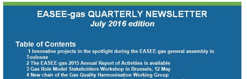 EASEE-gas Quarterly Newsletter - July edition